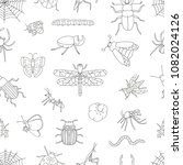 vector seamless pattern of... | Shutterstock .eps vector #1082024126