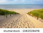 north sea landscape at evening...   Shutterstock . vector #1082028698