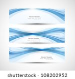 abstract header blue wave... | Shutterstock .eps vector #108202952