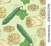 seamless pattern of loofan ...   Shutterstock .eps vector #1082031296
