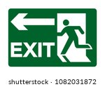 exit emergency green sign... | Shutterstock .eps vector #1082031872