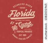 miaimi typography. florida... | Shutterstock .eps vector #1082031965