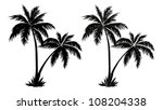 tropical palm trees  black... | Shutterstock .eps vector #108204338
