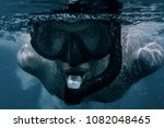 close up portrait of freediver... | Shutterstock . vector #1082048465