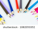 colorful pencils crayons on...   Shutterstock . vector #1082053352