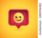 funny 3d emoticon in 3d speech... | Shutterstock .eps vector #1082056382