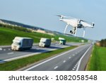 drone and transportation. drone ... | Shutterstock . vector #1082058548
