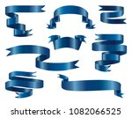 classic blue glossy ribbon... | Shutterstock .eps vector #1082066525