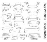 sketch vector ribbon set.... | Shutterstock .eps vector #1082066528