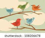 vector bird set 5 | Shutterstock .eps vector #108206678