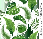 tropical seamless pattern with... | Shutterstock .eps vector #1082069786