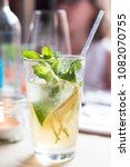 cold ginger mojito cocktail on... | Shutterstock . vector #1082070755