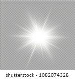white glowing light burst... | Shutterstock .eps vector #1082074328