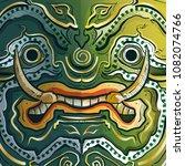 thai guardian giant monster or... | Shutterstock .eps vector #1082074766