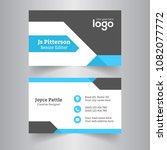 creative business card. clean...   Shutterstock .eps vector #1082077772