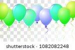 vibrant realistic helium vector ... | Shutterstock .eps vector #1082082248