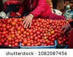 fresh tomato on street asian... | Shutterstock . vector #1082087456