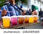 beverage colorful drinks on the ... | Shutterstock . vector #1082089685