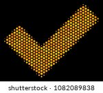 halftone hexagonal yes icon....
