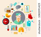 set of icons medical equipment... | Shutterstock . vector #1082091425
