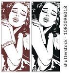 stock illustration. sexy girl.   Shutterstock .eps vector #1082096018