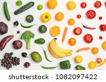 rainbow composition with fresh... | Shutterstock . vector #1082097422