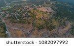 aerial shot assos temple of... | Shutterstock . vector #1082097992