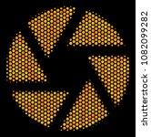 halftone hexagon shutter icon.... | Shutterstock .eps vector #1082099282