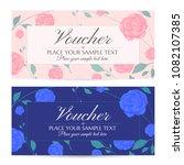 voucher  gift certificate ... | Shutterstock .eps vector #1082107385