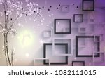 3d rectangular abstractions... | Shutterstock . vector #1082111015