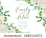 wedding floral invite ... | Shutterstock .eps vector #1082114372