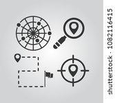 navigation icons set | Shutterstock .eps vector #1082116415