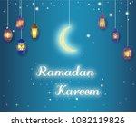 beautiful hanging shiny... | Shutterstock .eps vector #1082119826