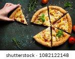 Pizza Hawaiian In A Cardboard...