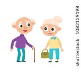 european old people in bright... | Shutterstock .eps vector #1082129198