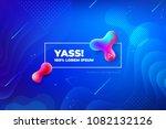 Liquid color background design. Fluid gradient shapes composition. Futuristic design posters. Eps10 vector. | Shutterstock vector #1082132126