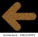 halftone hexagonal arrow left... | Shutterstock .eps vector #1082133995