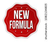new formula label or sticker on ... | Shutterstock .eps vector #1082134805