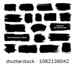 set of 19 different black ink... | Shutterstock .eps vector #1082138042