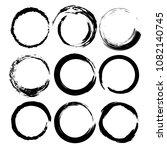 set of grunge round frames.... | Shutterstock .eps vector #1082140745