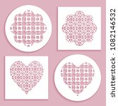 templates for laser cutting ... | Shutterstock .eps vector #1082146532