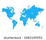 illustration of a world map... | Shutterstock .eps vector #1082149352