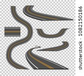 winding curved road direction...   Shutterstock .eps vector #1082150186
