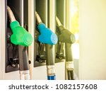 gas station close up colourful... | Shutterstock . vector #1082157608