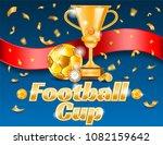 football ad poster  golden...   Shutterstock .eps vector #1082159642