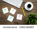 question mark on sticky notes... | Shutterstock . vector #1082186885