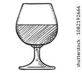 vector isolated sketch... | Shutterstock .eps vector #1082192666