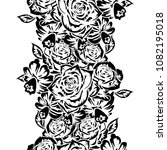 seamless monochrome pattern of...   Shutterstock .eps vector #1082195018