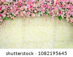 Stock photo wedding backdrop with flower and decoration 1082195645