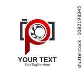 initial letter p logo template... | Shutterstock .eps vector #1082198345